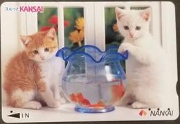Prepaidcard Japan - Katzen,cats (4) - Katzen