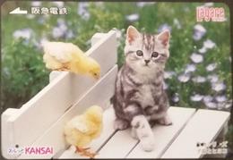 Prepaidcard Japan - Katzen,cats (3) - Katzen