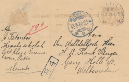 Nederlands Indië - 1923 - 7,5 Cent Cijfer, Briefkaart G29 Van LB PETTA Naar Weltevreden - Nederlands-Indië