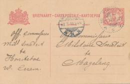 Nederlands Indië - 1919 - 5 Cent Cijfer, Briefkaart G23 Van LB PIROE Naar Magelang - Nederlands-Indië