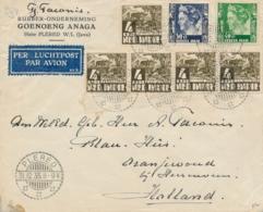 Nederlands Indië - 1935 - 90 Cent Frankering Op Business Cover Van LB PLERED Naar Oranjewoud / Nederland - Nederlands-Indië