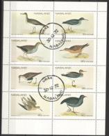 Nagaland 8 Werte Vögel Kleinbogen O (Cinderella) - Fantasie Vignetten