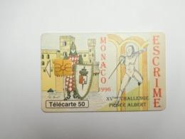 Télécarte Monaco , Escrime ; MF40 , Bon état - Monaco