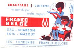 """Cu L/Buvard Cuisinière """"L.F.B"""" (Format 21 X 14) (N= 2) - Carte Assorbenti"""