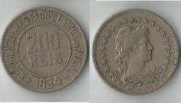 BRESIL  200 REIS 1934 - Brésil