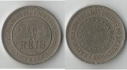 BRESIL  200 REIS 1889 - Brésil