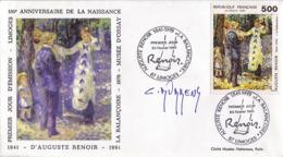 FDC 1er Jour :Auguste Renoir  23/02/1991 N° 2692 Signé Claude DURRENS - FDC