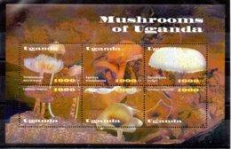 Uganda Serie Nº Yvert 1678/83 ** SETAS (MUSHROOMS) - Uganda (1962-...)