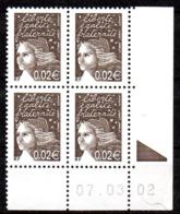 Col12   France Coin Daté N° 3444 3422 Luquet  07 03 02 Bopst  Neuf XX MNH Luxe - 2000-2009