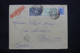 URUGUAY - Enveloppe De Montevideo Pour La France En 1938, Affranchissement Plaisant - L 42252 - Uruguay