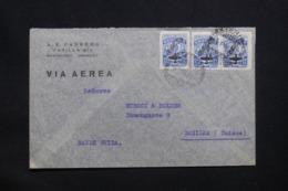 URUGUAY - Enveloppe Commerciale De Montevideo Pour La Suisse En 1946, Affranchissement Plaisant Surchargé PA - L 42253 - Uruguay