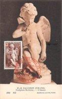 1950 .carte Maximum .france .102257 .e M Falconet  .exposition La Croix Rouge .cachet Paris . - Cartes-Maximum