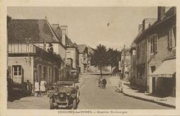 X121847 SAONE ET LOIRE COUCHES LES MINES QUARTIER ST SAINT GEORGES AUTOMOBILE VOITURE ANCIENNE - France