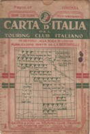 12656-T.C.I-COSENZA-SCALA 1:250.000-1938 - Carte Geographique