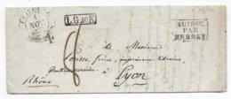 SUISSE - 1834 - LETTRE De FRIBOURG => LYON Avec ENTREE SUISSE PAR FERNEY - Zwitserland