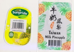 Fruit Label Pineapple Taiwan Indonesia - Fruit En Groenten