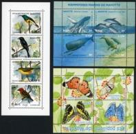 MAYOTTE / 134 à 137 (oiseaux) 154 à 157 (papillons) 173 à 176 (baleines). Neufs Sans Charnière ** MNH. TB. Cote 24.8€ - Mayotte (1892-2011)