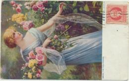 70-491 Cuba  Sent To Estonia 1921 Among The Holluhocks - Ansichtskarten