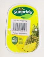 Fruit Label Pineapple Sunpride Indonesia - Obst Und Gemüse