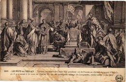 CPA Le PUY-en VELAY - Tablean Representant Charles VII Proclame Roi... (202913) - Le Puy En Velay