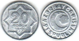 25 Pieces Azerbaijan - 20 Qepik 1993 UNC Aluminum - Azerbaiyán