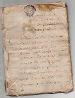 Saint Jean Soleymieux En Forez Loire De 30 Pages 1764 Certaines Pages Détachées Trous Sur Les Drnières Pages - Manuskripte