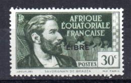 Sello Nº 128 Africa Ecuatorial Francesa - Nuevos