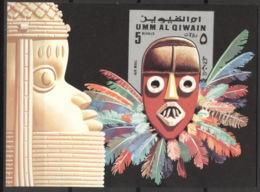 Umm Al-Qiwain Block 54 ** Postfrisch Masken - Umm Al-Qaiwain