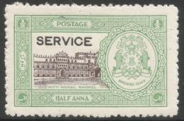 Bhopal(India). 1936-49 Official. ½a MH SG O336 - Bhopal