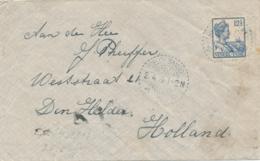 Nederlands Indië - 1919 - 12,5 Cent Wilhelmina Met Scheepje Op Cover Van LB POELOE SAMBOE Naar Den Helder / Nederland - Nederlands-Indië