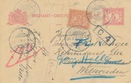Nederlands Indië - 1923 - 5 Cent Cijfer, Briefkaart G27 + 2,5 Cent Van LB POELOE TELLO Naar Weltevreden - Nederlands-Indië