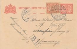 Nederlands Indië - 1923 - 5 Cent Cijfer, Briefkaart G21 + 2,5 Cent Van LB POERWODADI GROBOGAN Naar Semarang - Nederlands-Indië