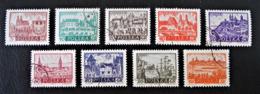 ANCIENNES VILLES HISTORIQUES 1960 - OBLITERES - YT 1052/53 + 1055/57 + 1058 + 1059 /60 - 1944-.... République