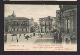 16508 Acireale - Piazza Del Duomo E Palazzo Municipale F - Acireale