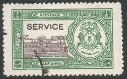 Bhopal(India). 1936-49 Official. ½a Used SG O336 - Bhopal