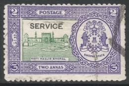 Bhopal(India). 1936-49 Official. 2a Used SG O338 - Bhopal