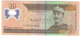 Dominican Republic 20 Pesos Oro 2009 UNC .PL. - Dominicana