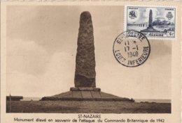 FRANCE - Carte-Maximum - Commando Britannique à Saint-Nazaire - Cartes-Maximum