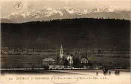CPA Le PONT-de-Claix - L'Église Et Les ALPES - Env. De GRENOBLE (630028) - Claix