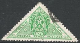Bhopal(India). 1941 Official. 1a3p Used SG O346 - Bhopal