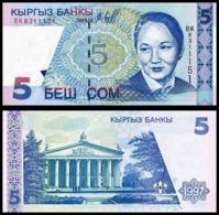 10 Pieces KKyrgyzstan - 5 Som 1997 UNC - Kirghizistan