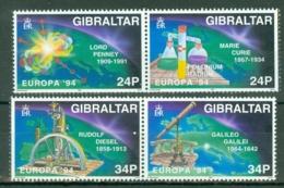 Gibraltar: 1994   Europa - Scientific Discoveries    MNH - Gibilterra