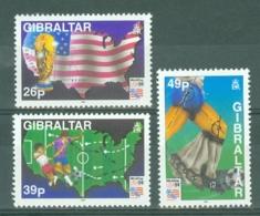 Gibraltar: 1994   World Cup Soccer, USA    MNH - Gibraltar