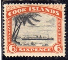 COOK ISLANDS ISOLE 1932 R.M.S. MONOWAI PENCE 6p MNH - Cook