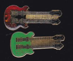 59922-lot De 2  Pin's.-guitare.musique.rock.. - Musique