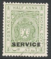 Bhopal(India). 1932-34 Official. ½a Used SG O314 - Bhopal