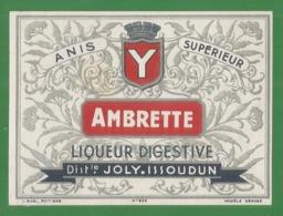 Liqueur Digestive - Anis Supérieur - Ambrette  - Distilerie Joly Issoudun - 36 - Indre - Etichette