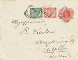 Curacao - 1905 - 5 Cent Wilhelmina In Driehoek, Envelop G1 + 7,5 Cent Van VK Curacao Naar GR Zutphen / Nederland - Curaçao, Nederlandse Antillen, Aruba