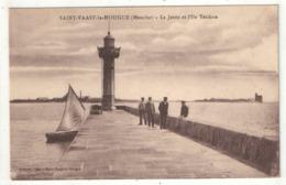50 - SAINT-VAAST-LA-HOUGUE - La Jetée Et L'Ile Tatihou - Saint Vaast La Hougue