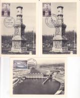 France, Lot De 3 Cartes Maximum,n°1065+1078, Montceau Les Mines, Donzere, Cote14€ ( 190901/065) - 1940-49